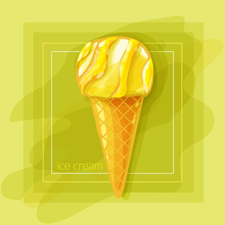 Vector Illustration: I love fruit ice cream