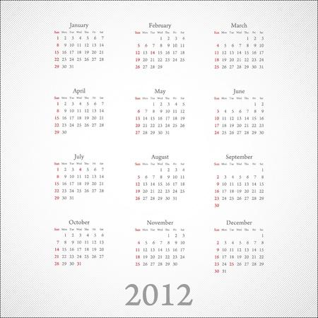 calendar 2012: on white Illustration