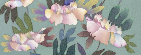 Image of my artwork with a peony  photo