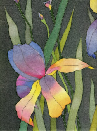 batik:  iris