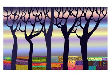 eastertide: easter in spring forest illustration Illustration