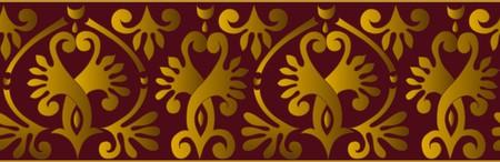 horizontal ornament border ribbon Vector