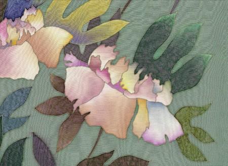 peony batik background Standard-Bild