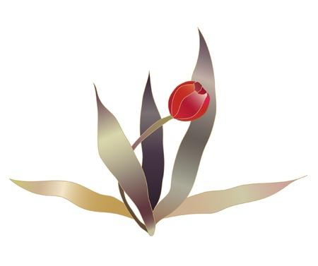 tulipe rouge: croquis de fleur rouge tulipe