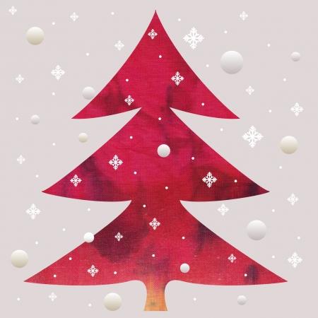 red batik christmas tree photo