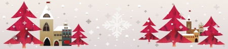 folksy: red christmas snow background collage