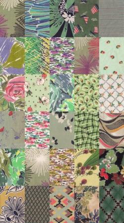 green quilt background