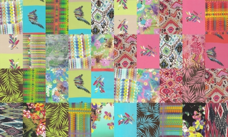 collection of quilt backgrounds - neon colors