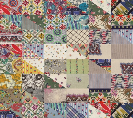 patchwork quilt: collection of quilt backgrounds - triangles