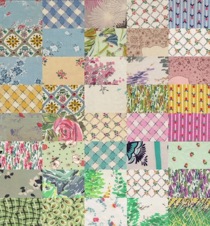 collection of quilt backgrounds - light