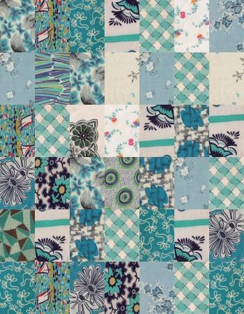 collection of quilt backgrounds - blue Standard-Bild