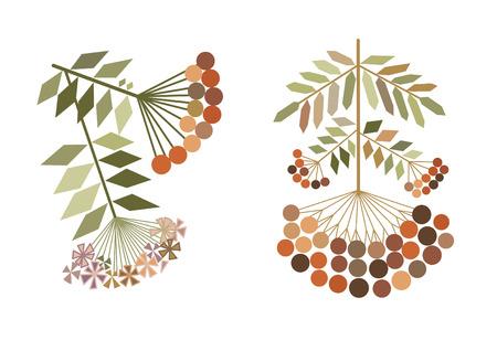 color rowan branches stylization
