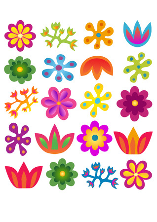 flowers pattern vector set