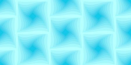Blue seamless background of twisted squares. Vector illustration. Illustration