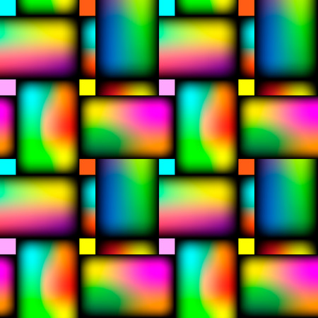 Korbweide, die nahtloses lebendiges kreuzweises Muster wiederholt. Vektor-Illustration.