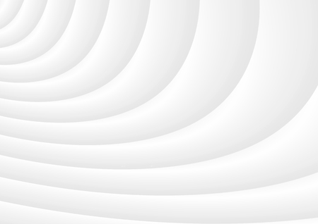 Wavy 3D white background of abstract waves.