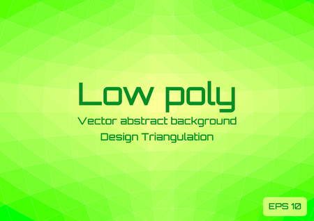 Low poly green lime abstract background. Geometric triangulation in ufo green style. Textured template