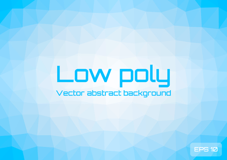 Low poly light blue abstract background. Geometric triangulation consisting of triangles with space for text. Textured template