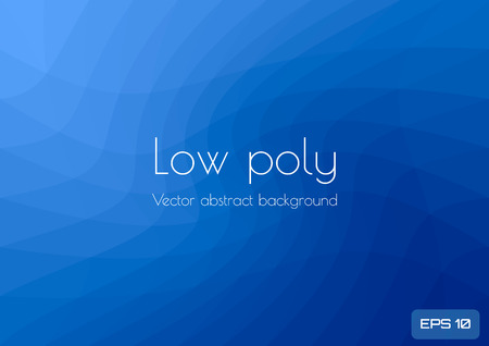 Low poly dark blue abstract background. Geometric triangulation. Textured template