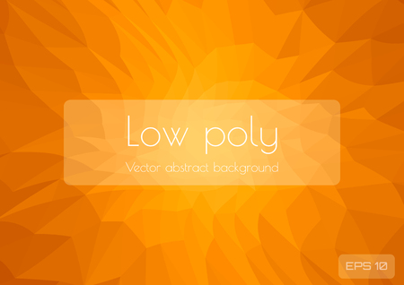 Low poly light orange abstract background. Geometric triangulation consisting of triangles with space for text. Textured template