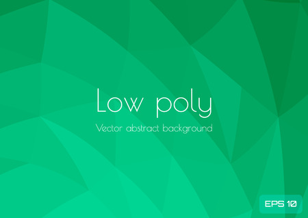 Low poly green abstract background. Geometric triangulation consisting of triangles with space for text. Textured template