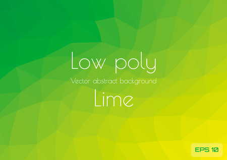 Low poly green lime abstract gradient background. Geometric triangulation in ufo green gradient style. Textured template Çizim