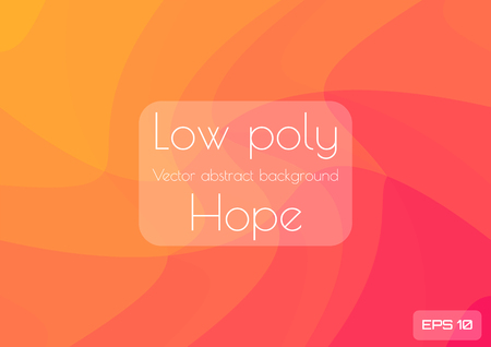 Low poly orange abstract background. Geometric triangulation consisting of triangles with space for text bright spot. Textured template Çizim