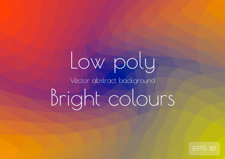 Abstract polygonal background bright juicy colors background. Geometric triangles in the form of a spiral textured vector illustration