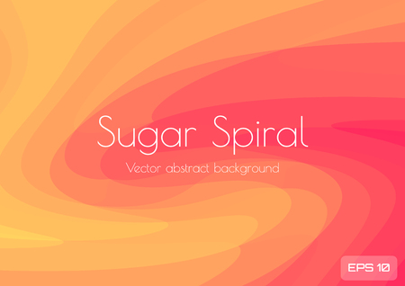 Abstract low poly background in the form of a fiery red orange spiral. Geometric waves of red yellow and orange are twisted into a spiral. Textured Vector Illustration