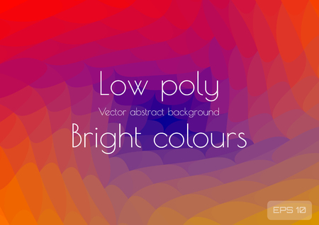 Abstract polygonal background bright juicy colors background. Geometric waves in the form of a spiral textured, vector illustration