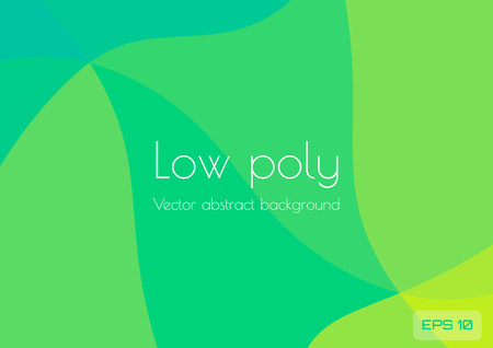 Abstract low poly blue yellow green background. Geometric triangles textured vector illustration
