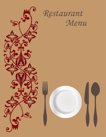 business dinner: Menu Card Design  Illustration
