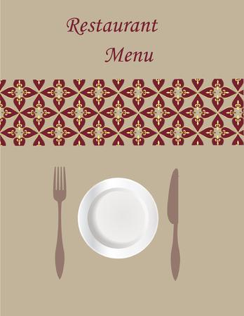 Diseño de tarjeta de menú  Foto de archivo - 8125329