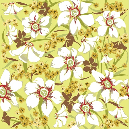 Seamless pattern  with daffodils