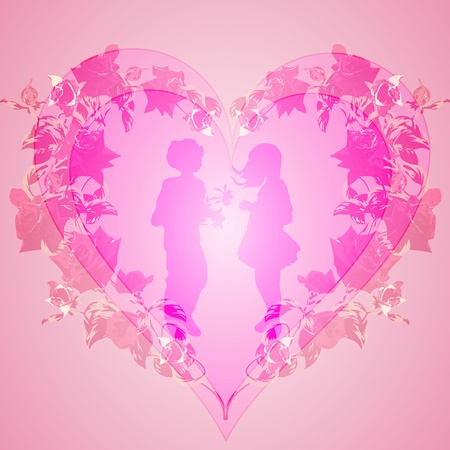 Background Valentine Vector