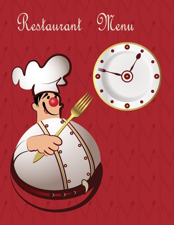 Chef restaurant menu design  Illustration