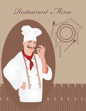 Chef restaurant menu design Stock Vector - 10430608