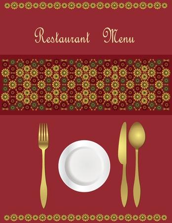 dinner menu: Menu Card Design  Illustration