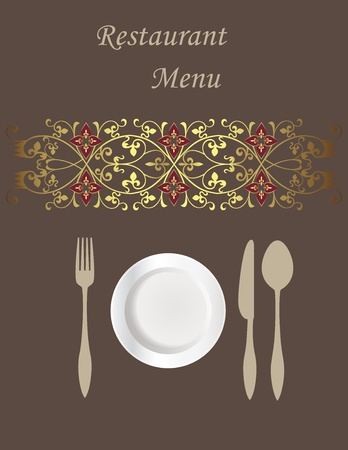 Menu card Stock Vector - 10430607