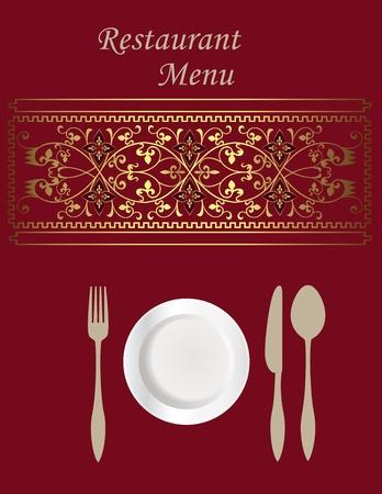 ornamental design: Menu Card Design  Illustration