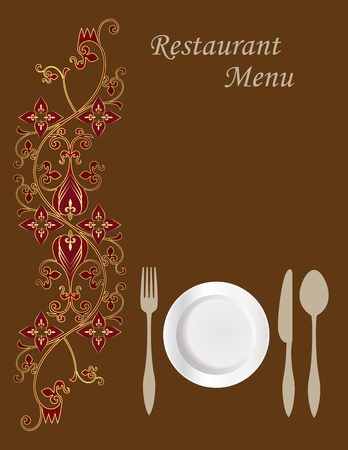 Menu Card Design Stock Vector - 10430641
