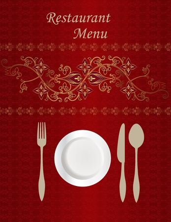 Menu Card Design Stock Vector - 10430646