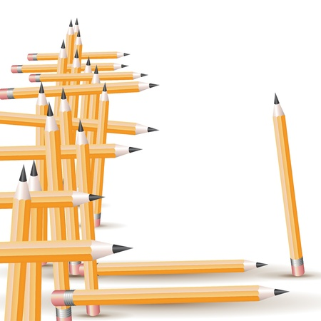 Background with pencils  Vector