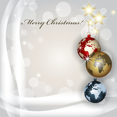 red earth: Worlds Christmas baubles background