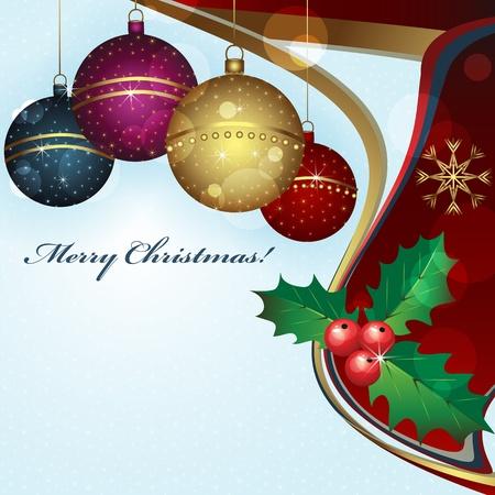Christmas greeting card vector illustration  Vector