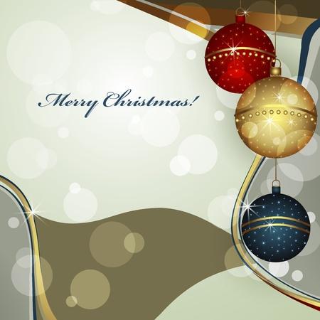 Christmas greeting card vector illustration Stock Vector - 11475269