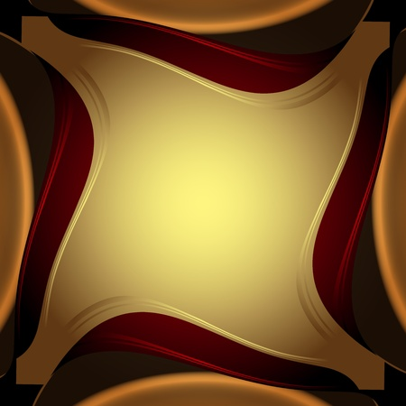 Abstract background, elegant gold banners  Vector