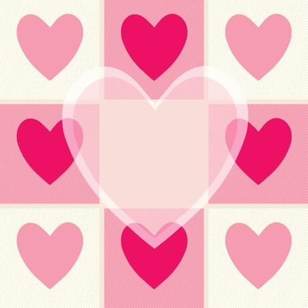 Congratulation card with hearts   Vector