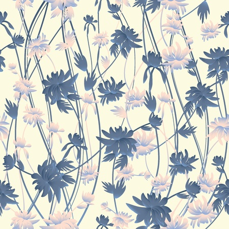 printed: Beautiful seamless floral pattern Illustration