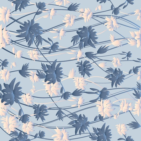 pearly: Beautiful seamless floral pattern Illustration